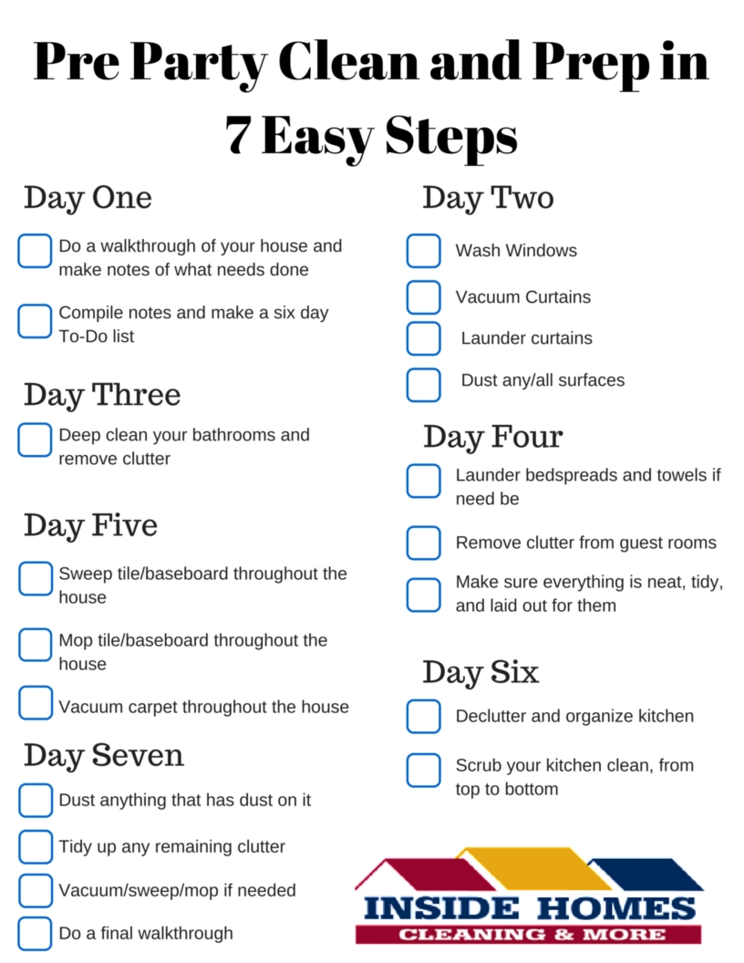 pre party clean and prep in 7 easy steps inside homes inc