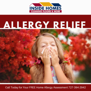 girl sneezing because of allergies