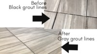 Grout Recoloring Grey to Black