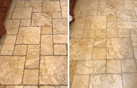 Tile and Grout cleaning in kitchen